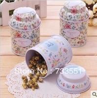8pcs/lot Free Shipping Mini Retro Floral Style Tin Box For Chocolates Candy Coins, Metal Storage Tin Box