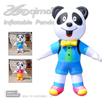 3mH cute inflatable carton panda with blower