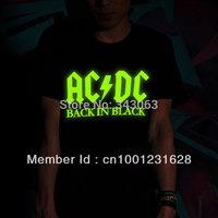 ACDC new 2014 fluorescence men shirt hot brand casual rock shirt items desigual punk metal