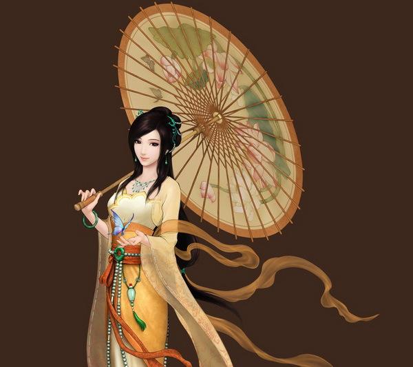 spedizione gratuita impermeabile e oggetti di scena di nozze parasole ombrello cinese pittura loto regalo collezione cospaly ombrello di carta oleata