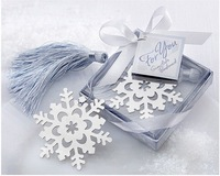 50Pcs Home Creative Party Favor Cute Snowflake Bookmark - Baby  bride Shower Christening Wedding Favour Bomboniere  birthday