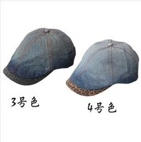 Free shipping denim short men and women han edition cap brim in spring and summer outdoor leisure beret
