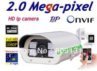 Free shippin CCTV H.264 2.0 Megapixel 1920*1080  IP Network Outdoor Night Vision Security IR Camera