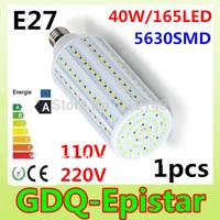 Free shipping 1x 40W 165LED 5630 SMD E27 E14 B22 Corn Bulb Light Maize Lamp LED Light Bulb Lamp LED Lighting Warm/Cool White