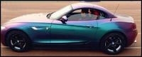 Car Sticker Purple to Blue  Sticker 152*60cm Chameleon 3D Carbon Fiber Vinyl Film Wrap Color Changing Car Sticker with air free