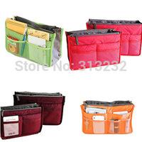 12 Color Cheap Fashion Large Dual Organizer Mp3 Phone Cosmetic Book Storage Nylon Bag In Bags Handbag Purse organizador