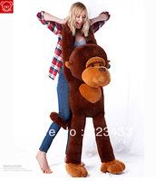 Free shipping ,110cm giant size stuffed plush animal Monkey coat/skin/cloth,Gorilla cloth,birthday gift , new year kids toys 1pc