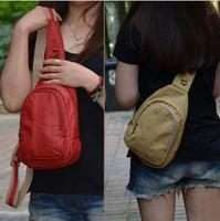 2013 new Korean female bag Messenger   shoulder chest outdoor sports   backpack   casual bag riding