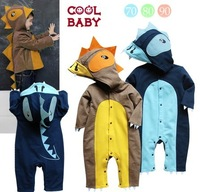 2013 New arrival Baby Boys Dinosaur Costume Attire Romper 10-24Mons Infant Toddler Clothing Halloween Xmas gift Dr-031