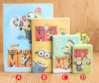 Dropshipping Free Shipping 11*7.5cm Despicable Me Notebook Cartoon The Minions Composition Book Randomly Support Wholesale