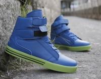 Hot sale fashion men's blue PU flat shoes  Men's lace-up sports shoes  free shipping