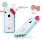 Olá gatinho Arco de plástico rígido caso capa Bumper Quadro para Apple iPhone 5 5G 5S frete grátis (China (continente))