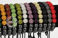 SHAMBALLA BRACELET 9*10mm Crystal ball/beads adjustable size