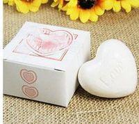20Pcs Cute Home Party Wedding Favors Heart Shape  Soap Gift Boxed Wedding  Bridal  Bomboniere Party Baby Shower Favour
