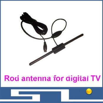 Free shipping DVB-T Antenna ,Rod antenna for digital TV Antenna HD TV HDTV DTV UHF Flat High Gain, DVB T T2 ISDB ATSC radio ant