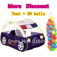 Christmas Gift Promotion Car Clild Tent + 50 Ocean Balls Kids Game House 5.5 cm Wave Balls Indoor And Outdoor Play Tent ZP5003