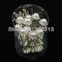 Pearl and Crystal Hair Ornament Pins, Hair Accessories