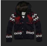 2013   Men's hooded sweater  winter sweater  best quality Free shipping