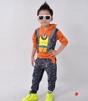 Kids new children's clothing boys sports leisure suit in Spring autumn paragraph children cartoon clothes