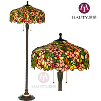 Free Shipping 20 Inch New European-Style Garden Tiffany Floor Lamp Living Room Lamp Apple Blossoms American Country