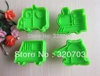 4pcs/set Free shipping Car Muster Form Keks Maschine Kolben Paste Zucker decoration 020060
