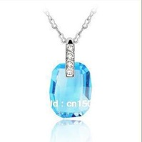 Crystal jewelry fashion personality classical irregular Crystal Pendant Necklace alloy jewelry ornaments accessories