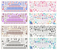 Christmas POPULAR  hot sale nail art stamp  water decal 3d water nail art decoration decal water transfer nail sticker