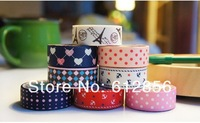 DIY scrapbooking products,album washi tape,cotton fabric tapes, Free Shipping