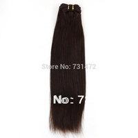 "Princess Hair Brazilian Straight 12""-26"" #2 100g Machine Hair Weft Hair Weave Virgin Brazilian Hair Extension Free Shipping"