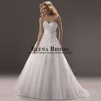 Graceful Sweetheart Neck Organza with Lace Appliques Court Train  Princess Ball Gown Wedding Dress, New  Lace Up Bridal Gowns