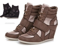 Drop/Free  Isabel Marant  Boots  flannelette Height Increasing Sneakers New style 2  color Shoes B001