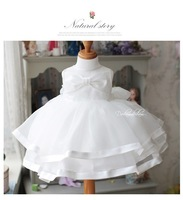 LS018 Girl princess dress,noble white fairy dress high quality,bowkont sleeveless 2013 summer baby dress/ Little Sun
