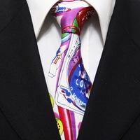 New Arrival Mens Novelty Silk Neckties Cartoon Pattern Original Festival Party Ties For Man Gravatas 10CM F10-D-8