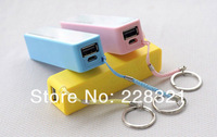 2600mAh USB External Backup Battery Power Bank for iPhone Samsung HTC Emergency charger +Micro usb cable retail box 100pcs
