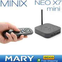 In Stock!!Original MINIX NEO X7 mini Quad Core Coretex A9 Google Android 4.2 TV BOX smart tv box receiver 2GB/8GB WIFI RJ45