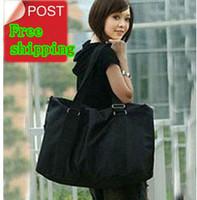 Free shipping black duffel bag large capacity canvas bag waterproof   women casual bags overnight bag outdoors