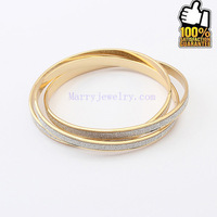 European Super Star Graceful Stylish Tricyclic Frosted Fashionable Bangle (No.9553-9) Min Order $10