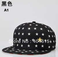 Good quality adult popular hiphop flat snapback hat women and men sport fashion polyester five star embroidery baseball caps