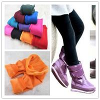 retail  kids girls  pants, cotton cashmere pants, elastic waist legging warm pants winter  10 colors choose