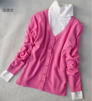 2013 autumn srping women's candy color pearl button long-sleeve sweater cardigan thin outerwear cheap qualified top beautiful