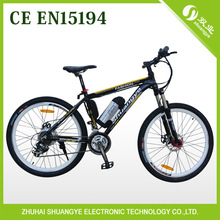 Newest 36v 26'' electric mountain bicycle with 21speed derailleur ebike(China (Mainland))