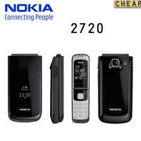 2720 Original Nokia 2720 mobile phone Dual Band 1.3MP Camera Bluetooth FM Vedio JAVA Free shipping Good quality refurbished