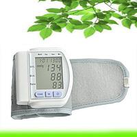 automatic digital wrist blood pressure monitor heart beat meter sphygmomanometer prevent hypertension free shipping