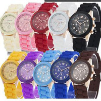 GENEVA watch Designer Ladies sports brand silicone watch jelly watch 12 colors quartz watch for women men children