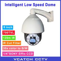 "Newly 30x Zoom 700TVL 1/4"" Sony Effio CCD China Module 100m IR Intelligent Low Speed Dome Cheap IR PTZ Security Camera"
