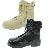 Fashion Men Boots Desert Boots Side Zipper Outdoor Combat Boots Climbing Sport Shoes 17936