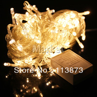 1pcs 10m Warm White 100 LED 8-Modes String Light Party Chrismas Lamp Decoration US Color Warm white