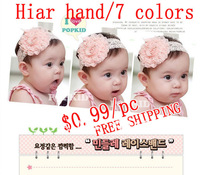 5pcs/lot Free shipping big rose baby hairbands accessory hand made hair Bands wholesale