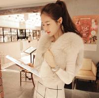 Customize 2013 plus size fur female slim fox fur coat short design vest