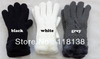 Warm Winter Fur Trim Gloves for Women , Free Shipping